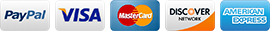 MenuGem® accepts Visa, MasterCard, American Express, Discover, and PayPal.