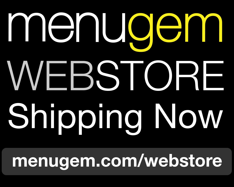 The MenuGem Web Store