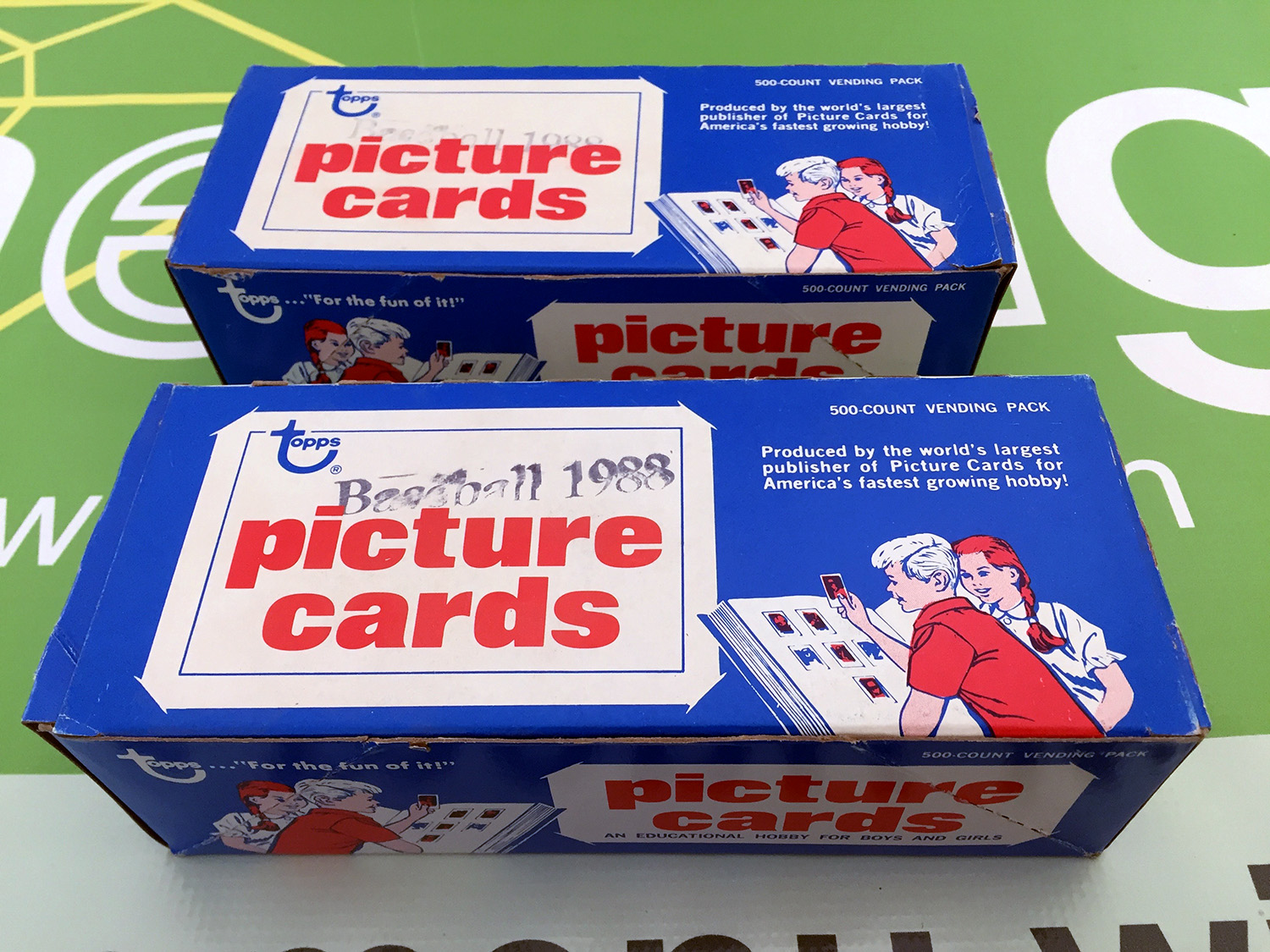 1988 Topps Baseball Cards Vending Boxes Set of 2 [SEE VIDEO]