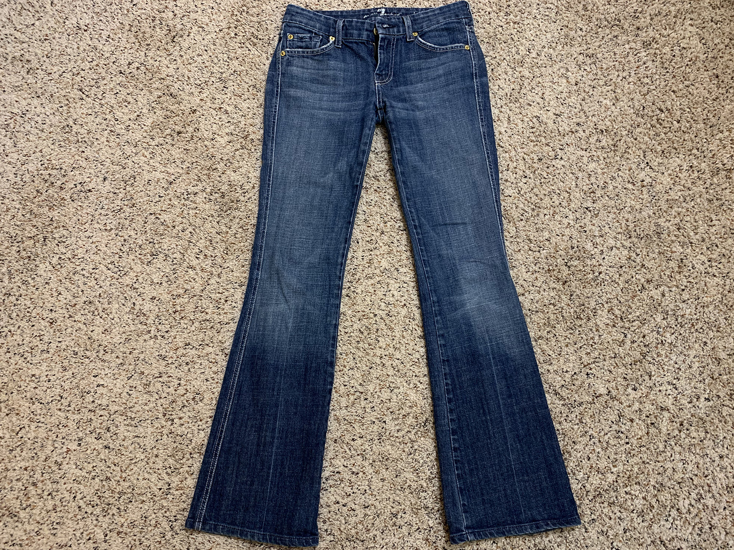 7 for All Mankind Womens A Pocket Bootcut Jeans Size 26