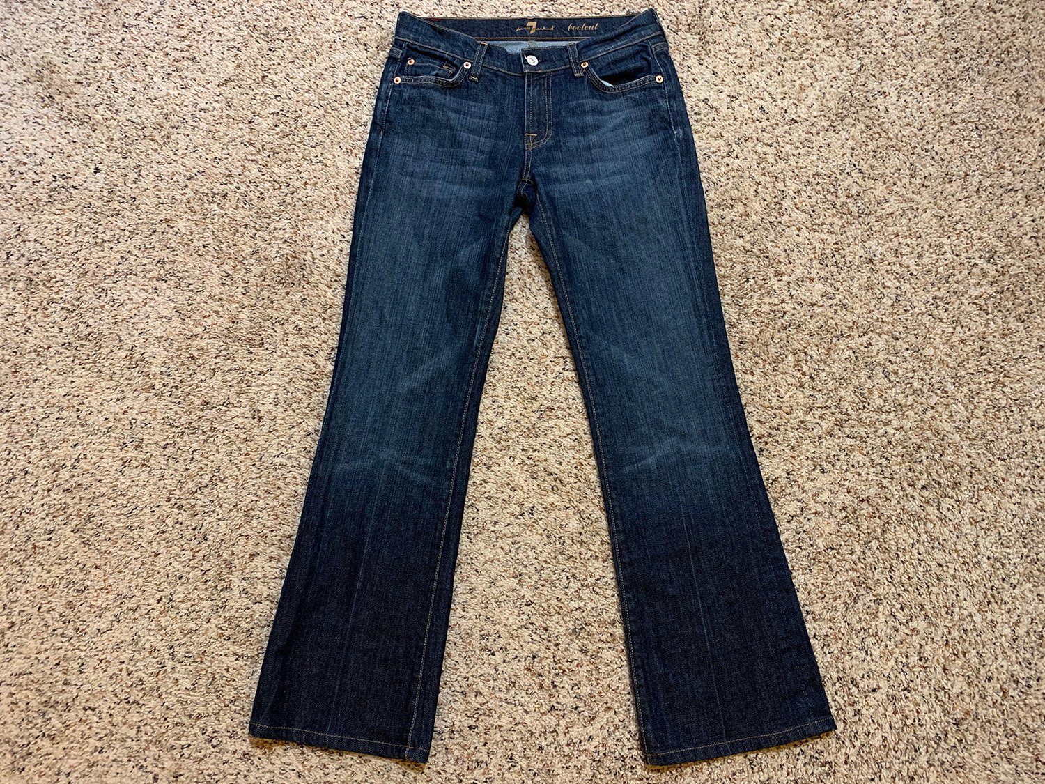 7 for All Mankind  Womens Low Rise Bootcut Jeans Size 27