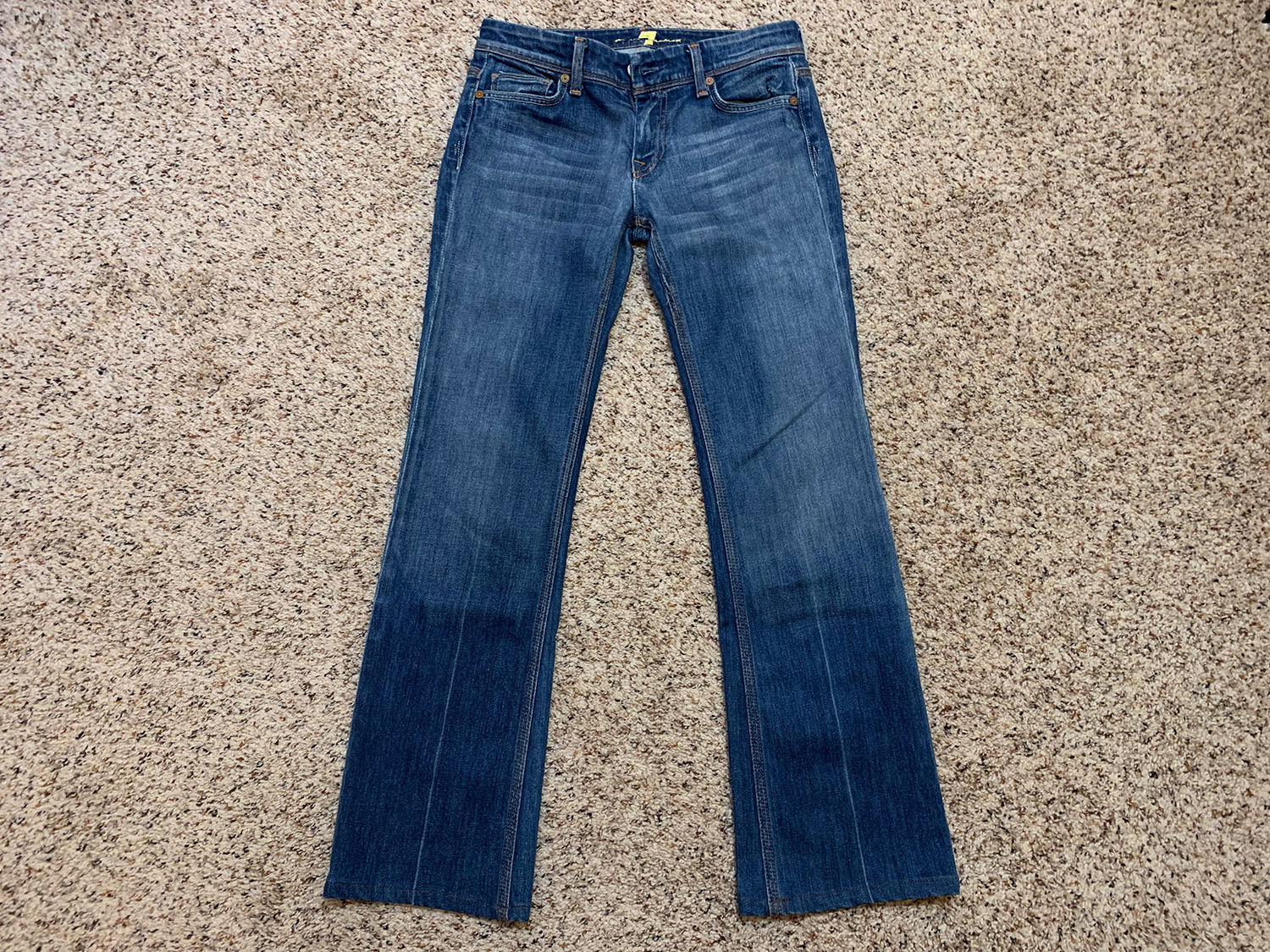 7 For All Mankind Womens Flynt Bootcut Jeans Size 26