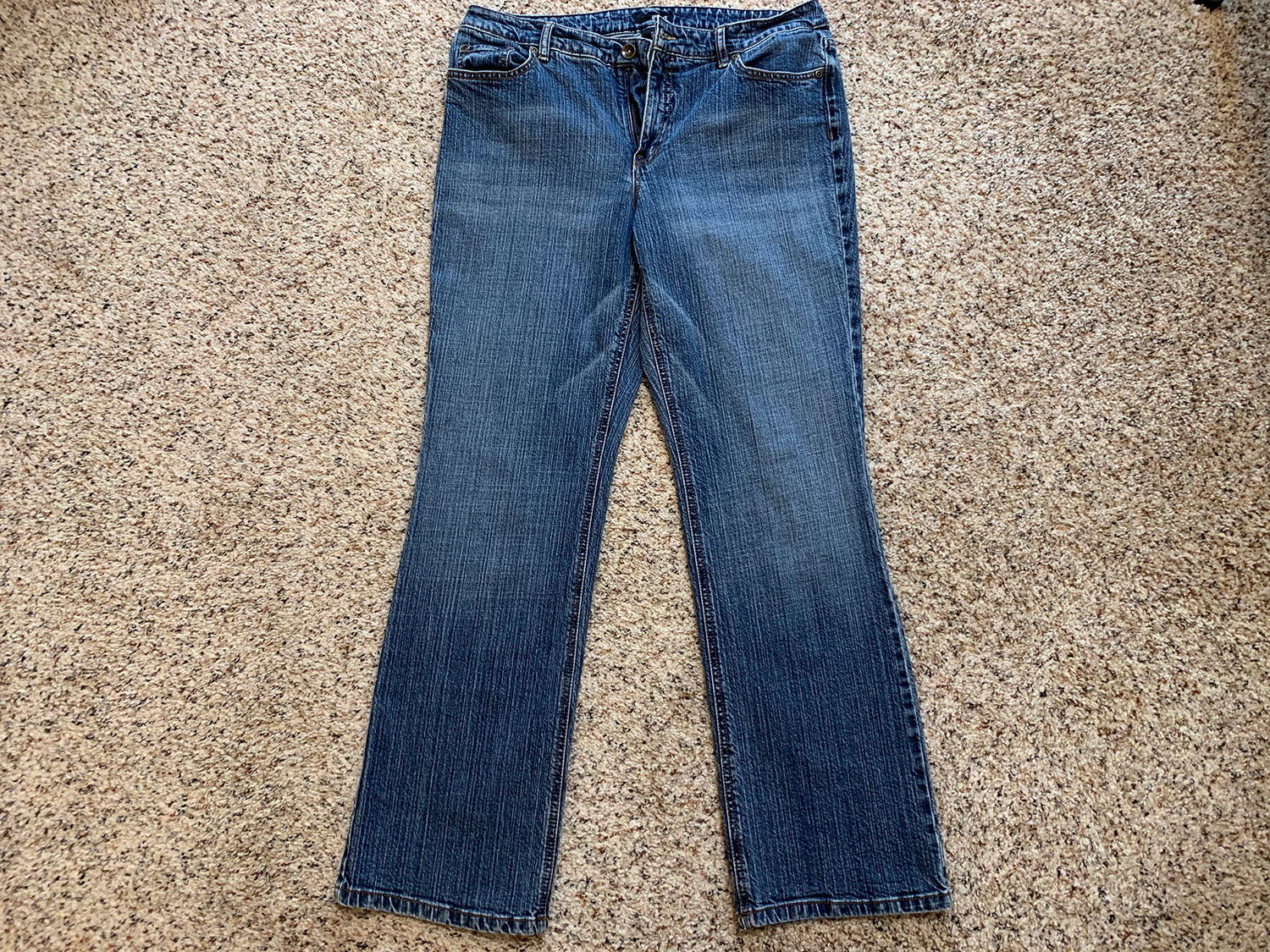 a.n.a. Womens Mid-Rise Blue Jeans Size 14