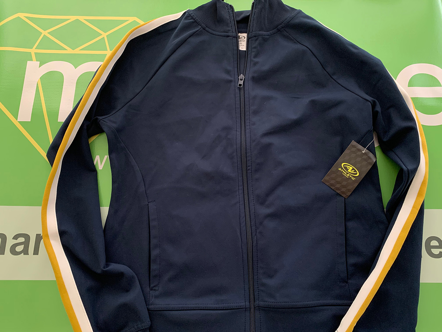 Athletic Works Womens Blue Cove Track Jacket Size M