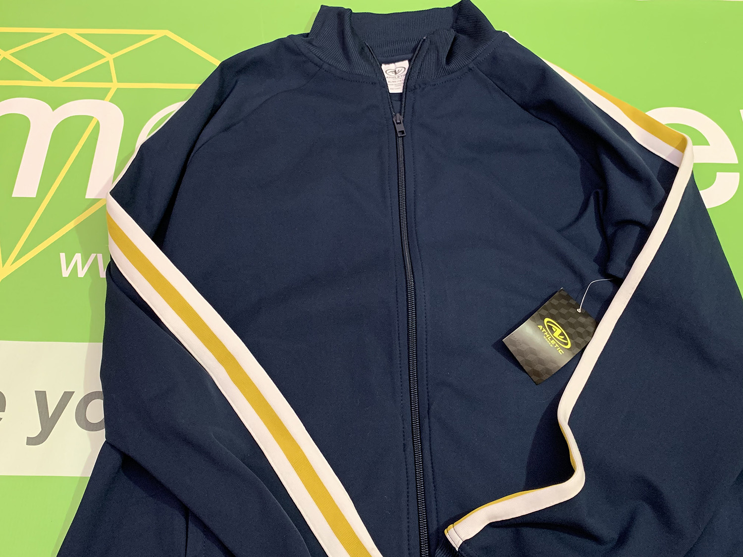 Athletic Works Womens Blue Cove Track Jacket Size XL
