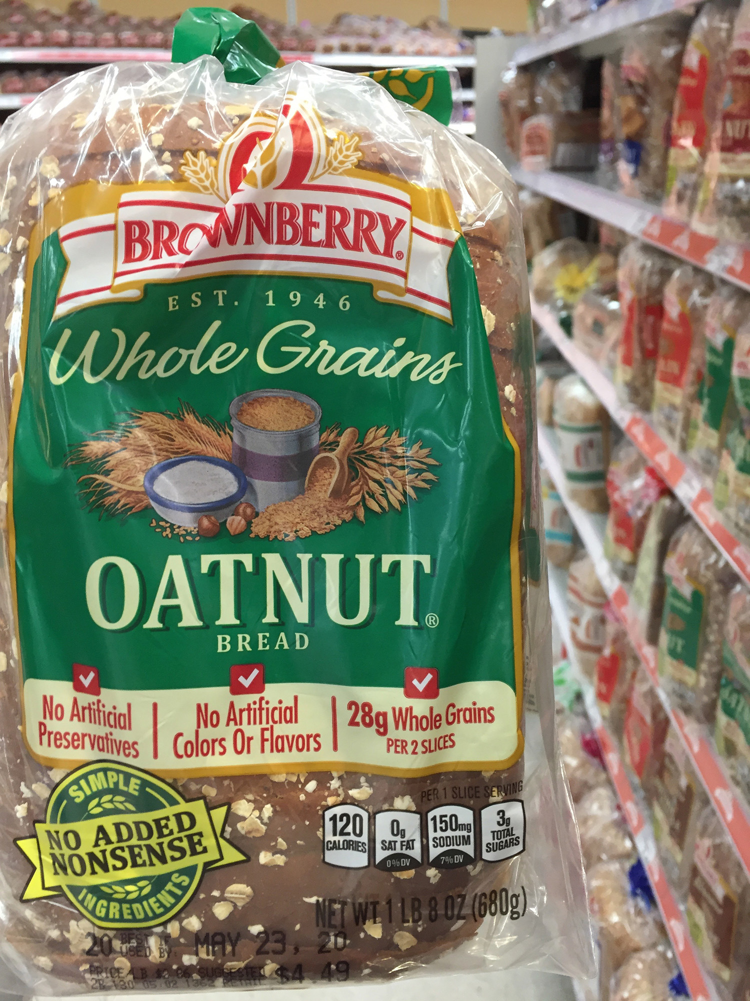 Brownberry Whole Grain Oatnut Bread (1 Loaf)