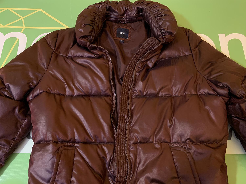 Gap Womens Burgundy Puffer Jacket Size M