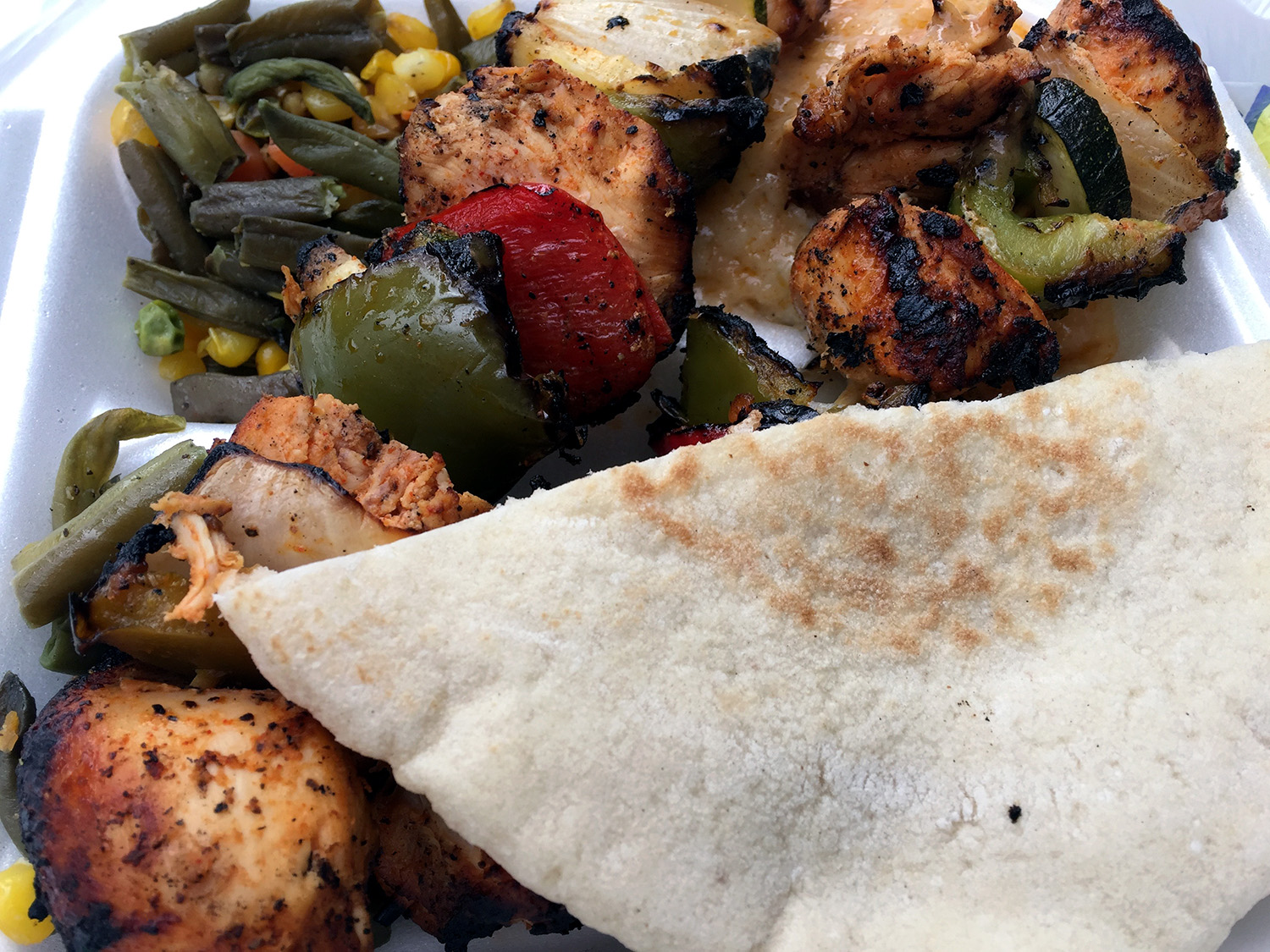 Grilled Chicken Kababs Plate