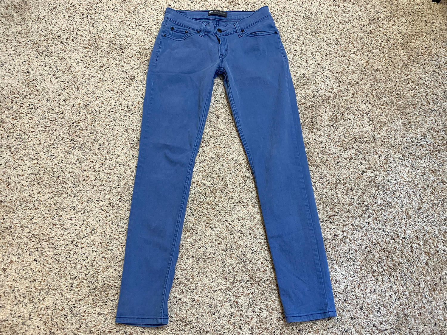 Levis Womens 524 Too Superlow Blue Stretch Jeans Size 7M