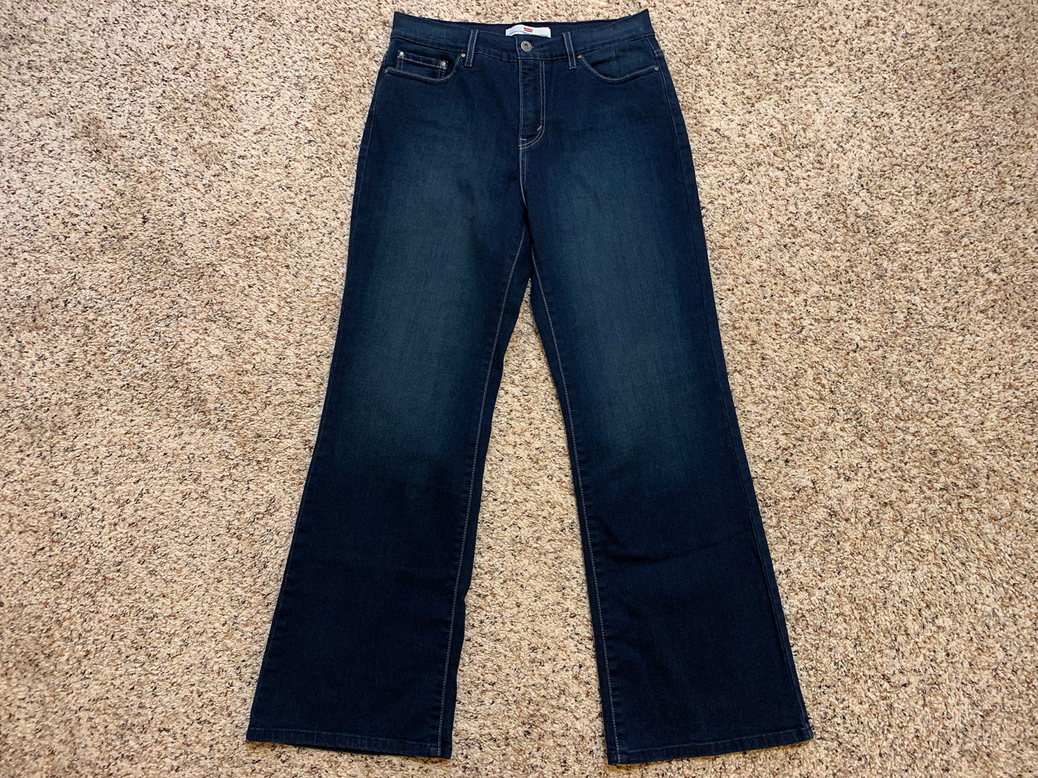 Levis Womens Perfectly Slimming 512 Bootcut Jeans Size 12S