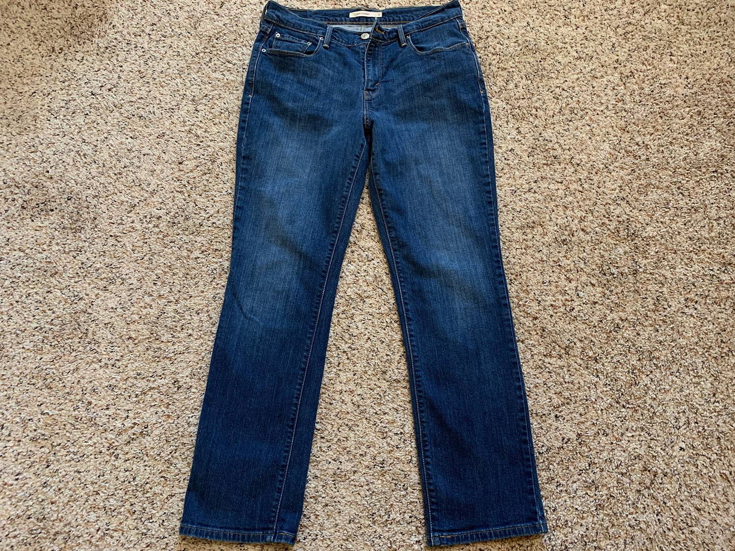 Levis Womens 505 Straight Blue Jeans Size 8