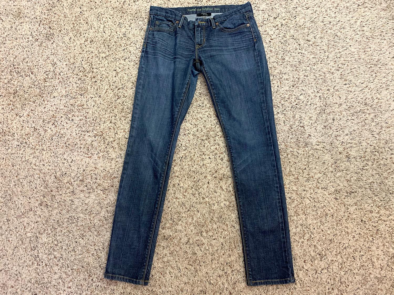 Levis Womens Skinny 421 Blue Jeans Size 7 Medium