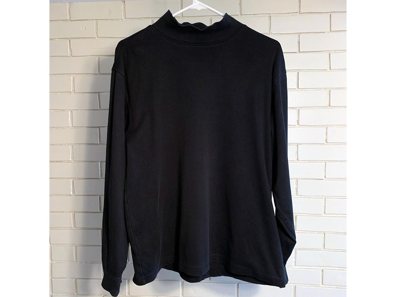 L.L. Bean Mens Interlock Mock-Turtleneck Shirt Size M