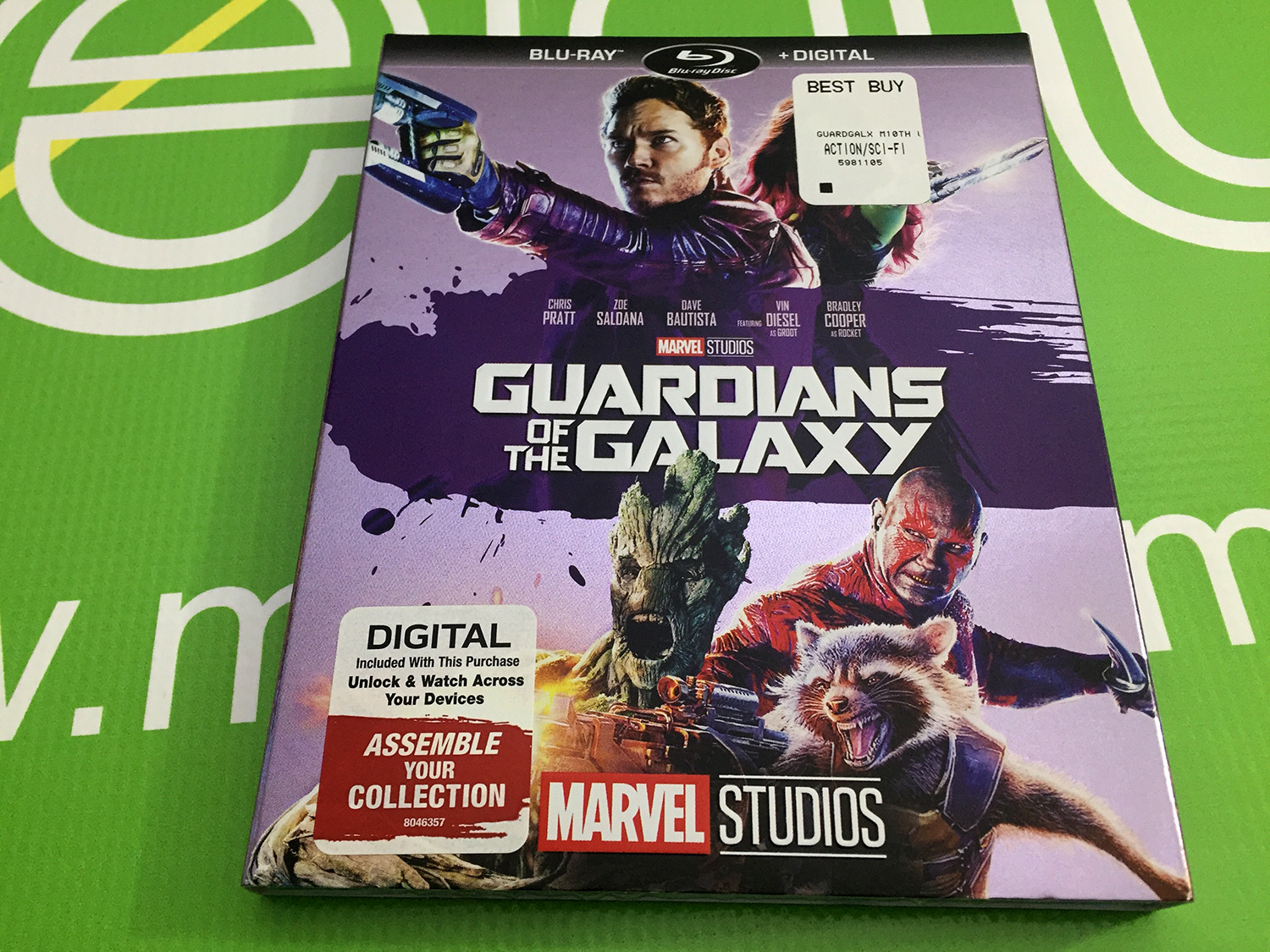 Marvel Studios Guardians of the Galaxy Blu Ray and Digital