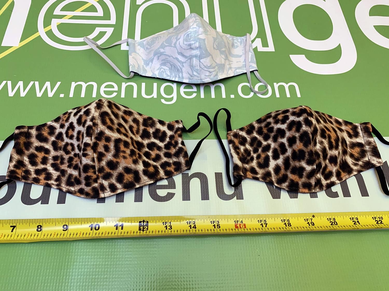 MenuGem Standard Mask 3 Pack - 2 Leopard 1 Floral at MenuGem Springfield