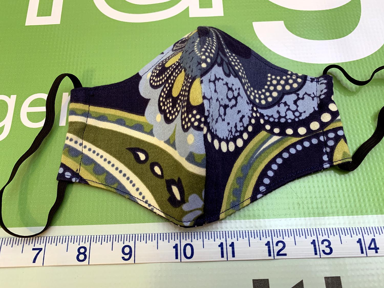 MenuGem Standard Mask Single - Blue Floral Variation print