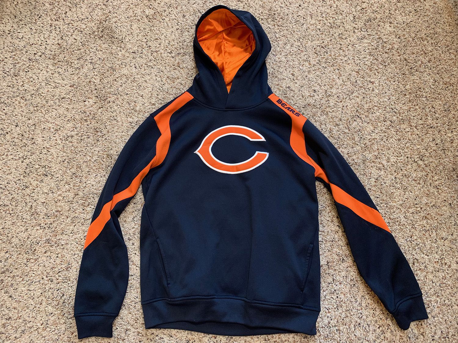 NFL Team Apparel Youth Chicago Bears Logo Hoodie Size XL