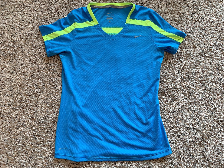 Nike Womens Dri-Fit Blue Running Shirt Size M