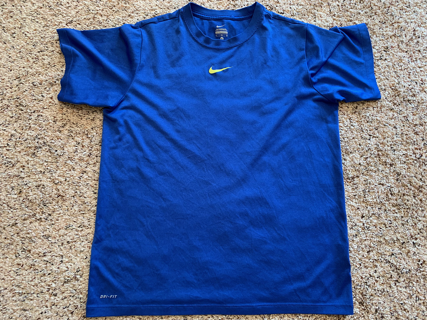 Nike Youth Dri-Fit Blue Polyester T-Shirt Size XL