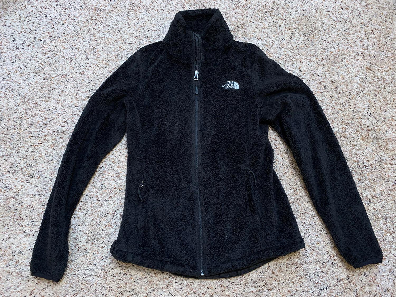 North Face Womens Black Osito Fleece Jacket Size S