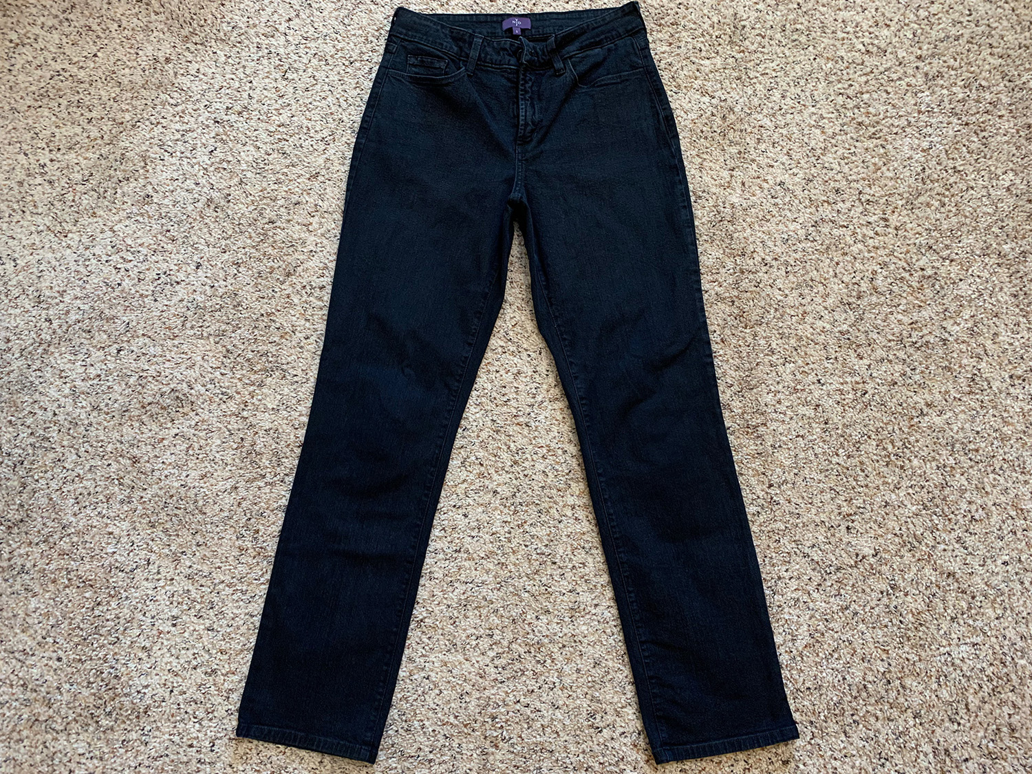 NYDJ Not Your Daughters Jeans Womens Black Lift Tuck Skinny Sz 6
