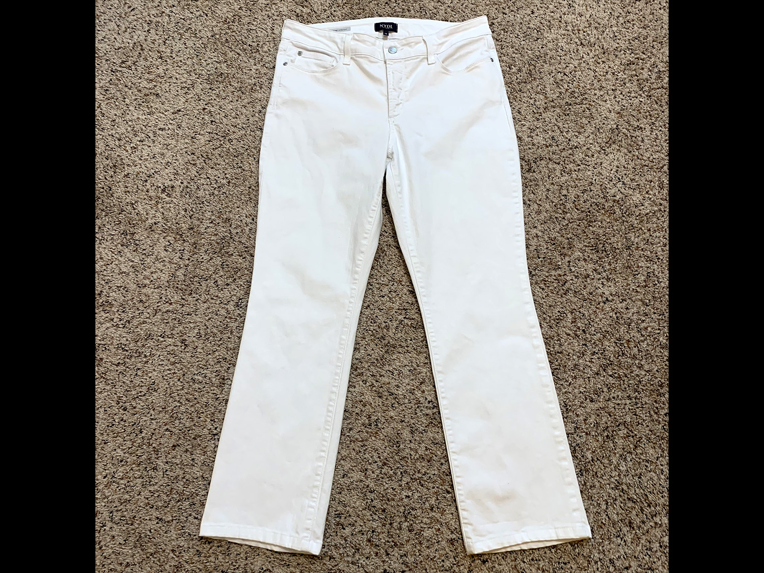 Not Your Daughters Jeans Womens Marilyn Straight White Jeans 10