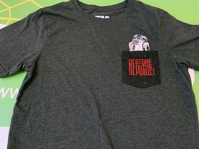 Star Wars Boys R2D2 Pocket T-shirt Size L