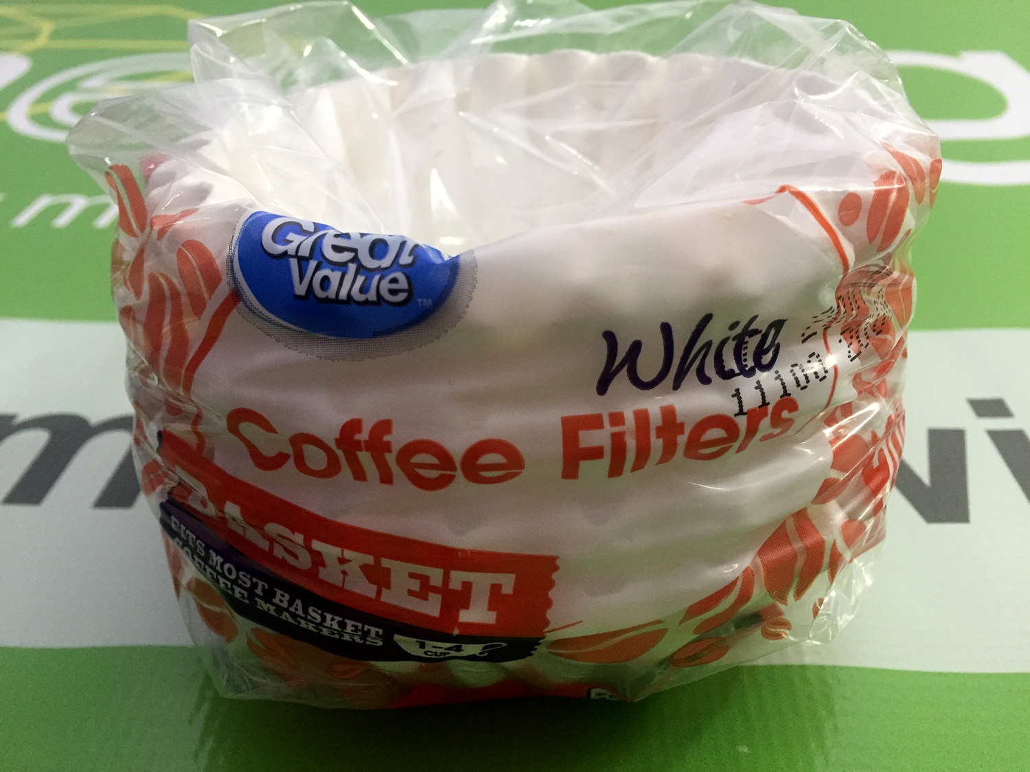 Store Brand White Basket Coffee Filters 1-4 Cup Size (200 Count)