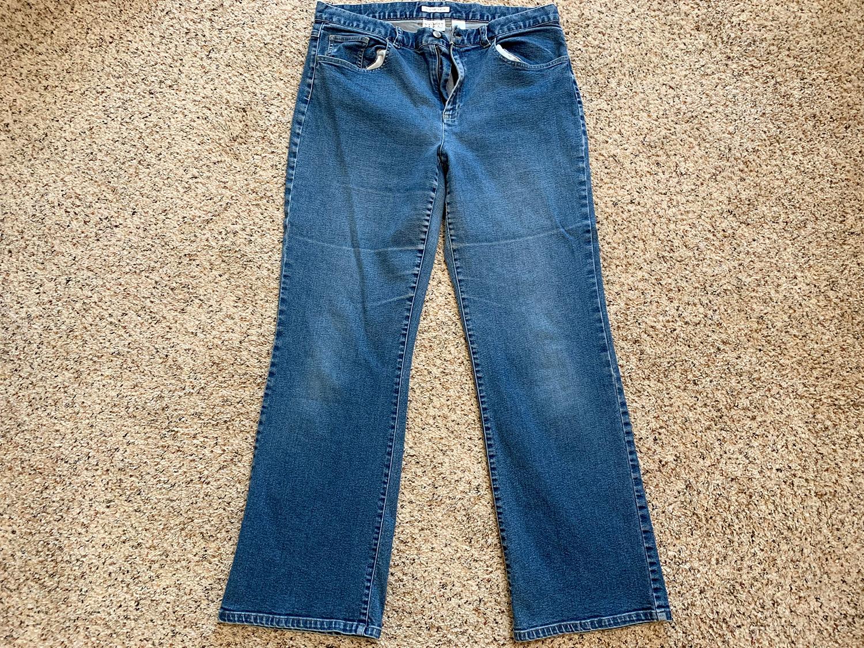 Villager Sport Liz Claiborne Womens Mid-Rise Stretch Jeans Sz 14