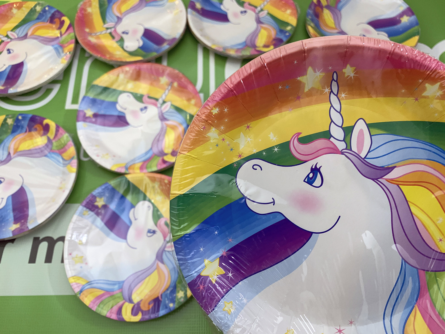Lot of 11 8 Ct. Unicorn Paper Dessert Plates