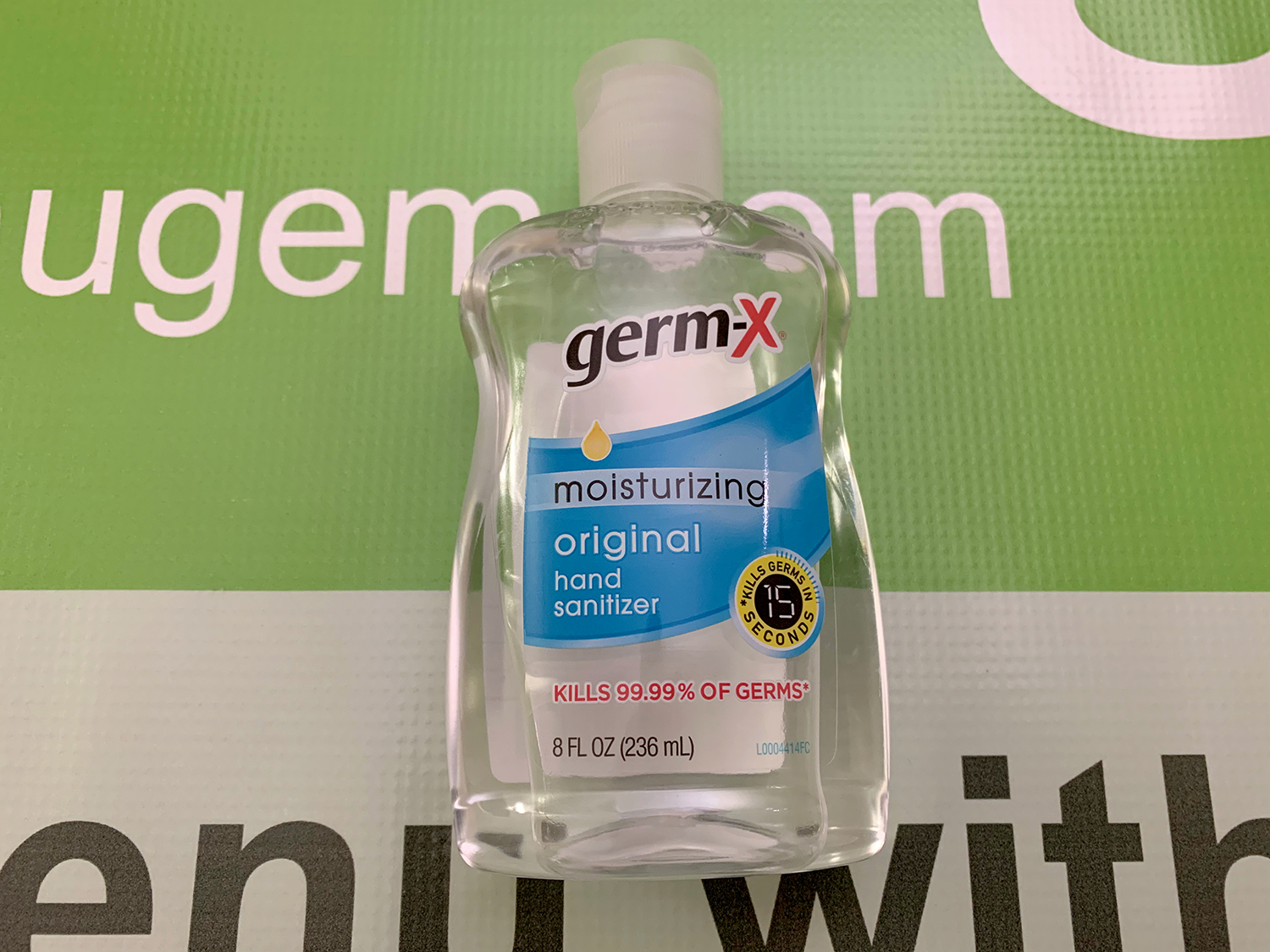 GermX Hand Sanitizer 8oz Flip Top Bottle