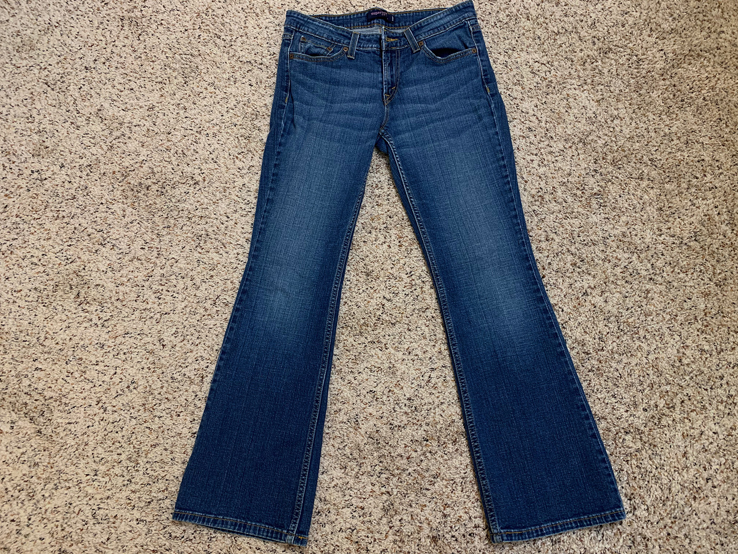 Levis Womens Superlow 518 Jeans Size 7 Short