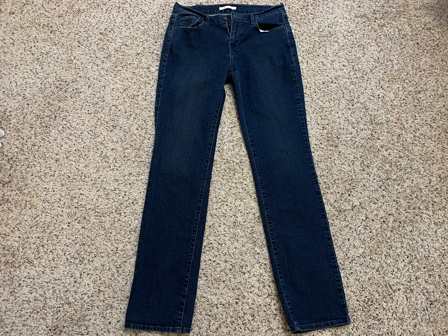Levis Womens Straight 505 Blue Jeans Size 10