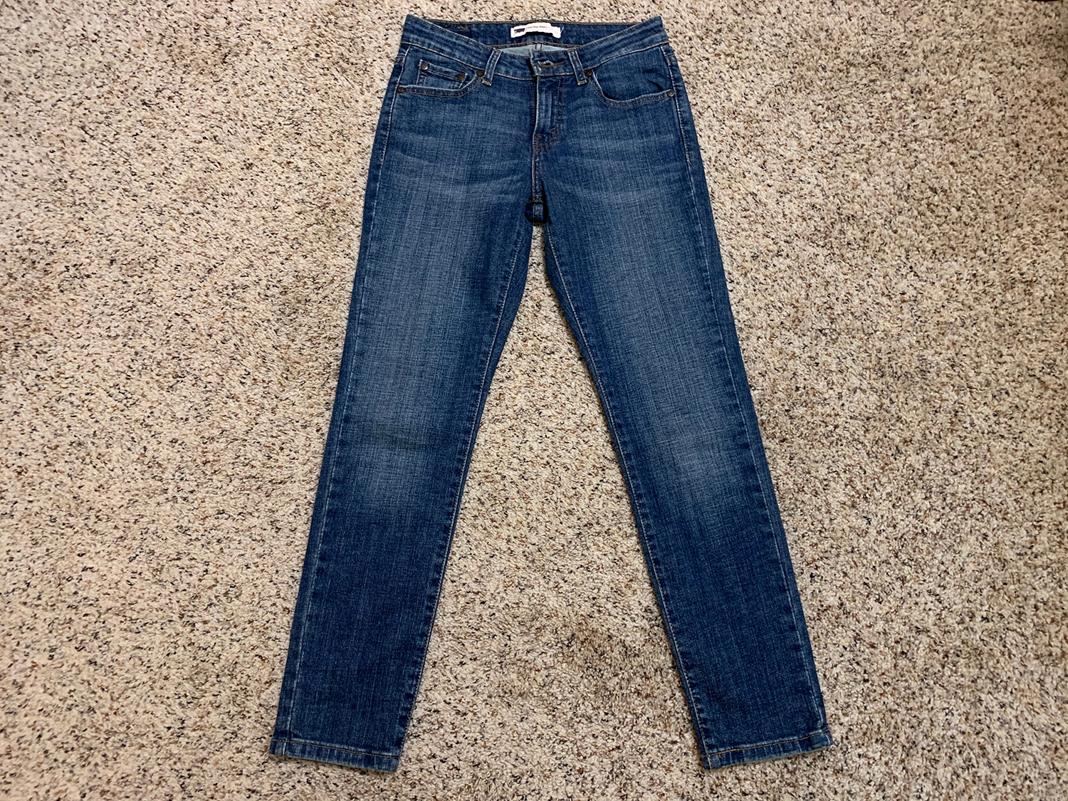 Levis Womens Mid Rise Skinny Blue Jeans Size 4M