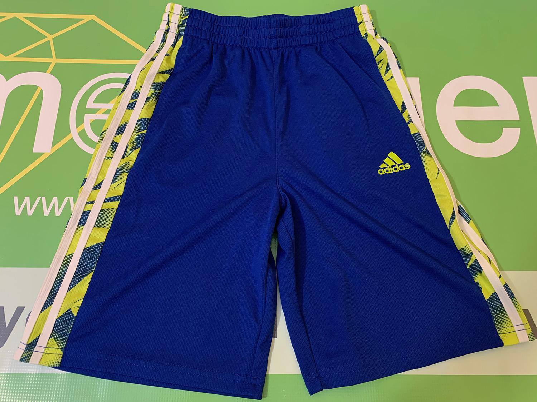 Adidas Boys Blue Polyester Shorts Size M
