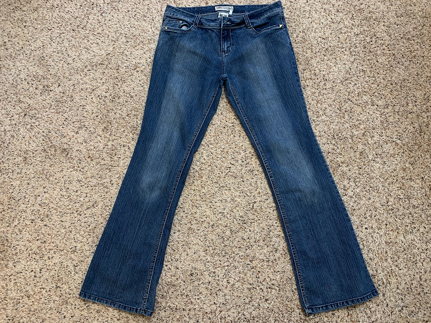 YMI Womens Mid-Rise Blue Jeans Size 13