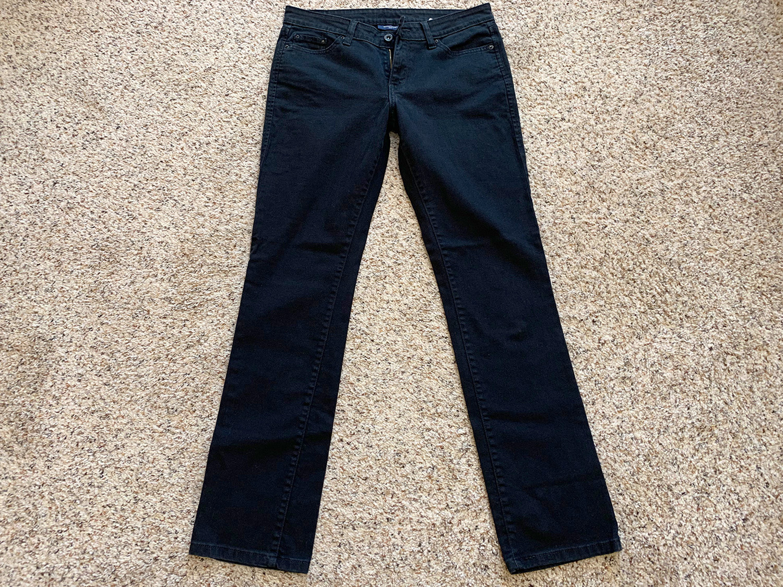 Levis Womens Mid-Rise Straight 552 Black Jeans Size 8L
