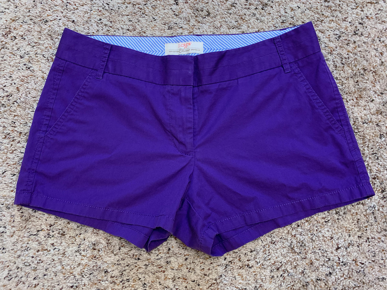 J.Crew Womens Chino Broken-In Purple Shorts Size 8