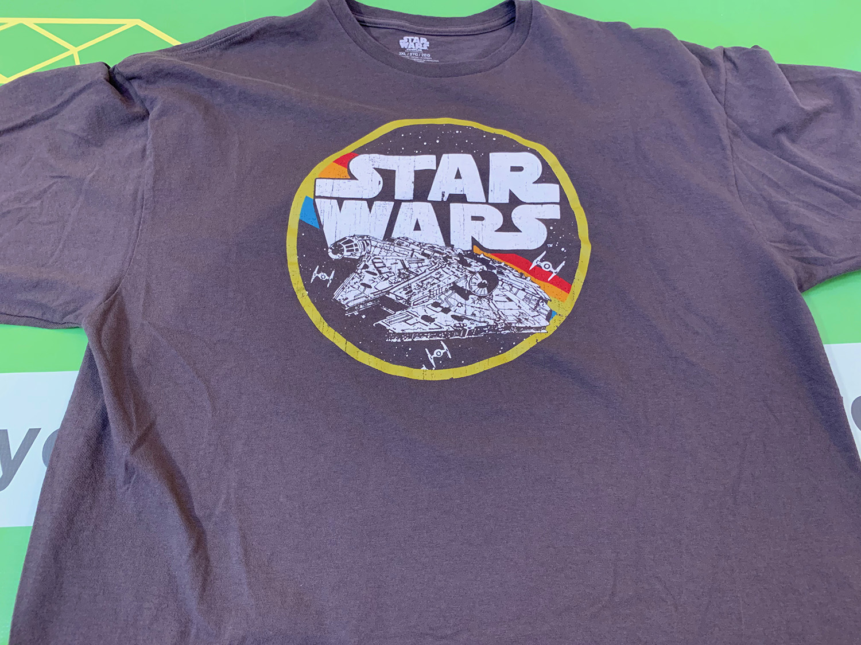 Star Wars Mens Millennium Falcon Retro T-Shirt Size 2XL