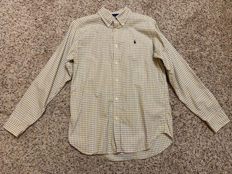 Polo Ralph Lauren Mens Button-Down Long Sleeve Shirt Size L 14-16