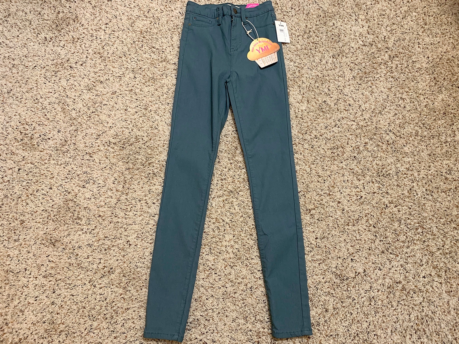 YMI Juniors Hide Your Muffin Top Hyperstretch Jeans Size M