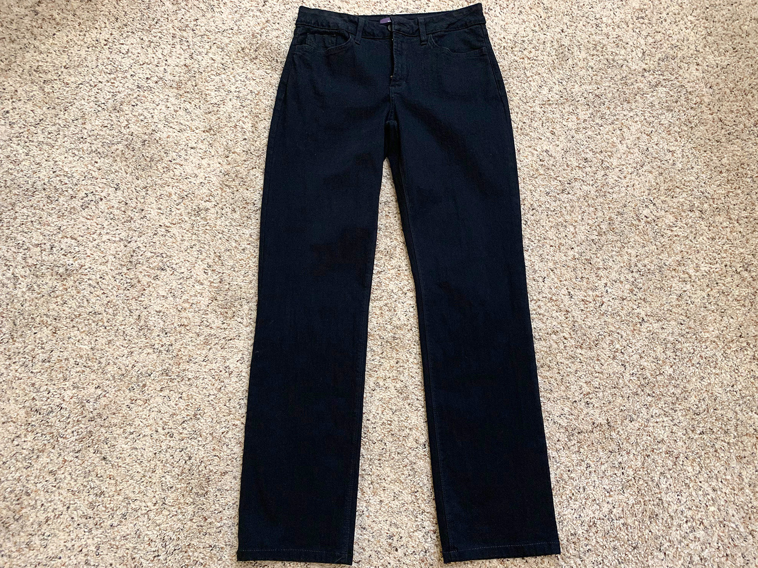 NYDJ Not Your Daughters Jeans Womens Marilyn Straight Black Jeans