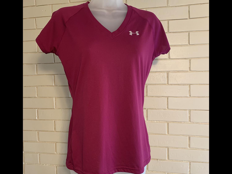 Under Armour Womens Heat Gear V-Neck T-Shirt Size XS