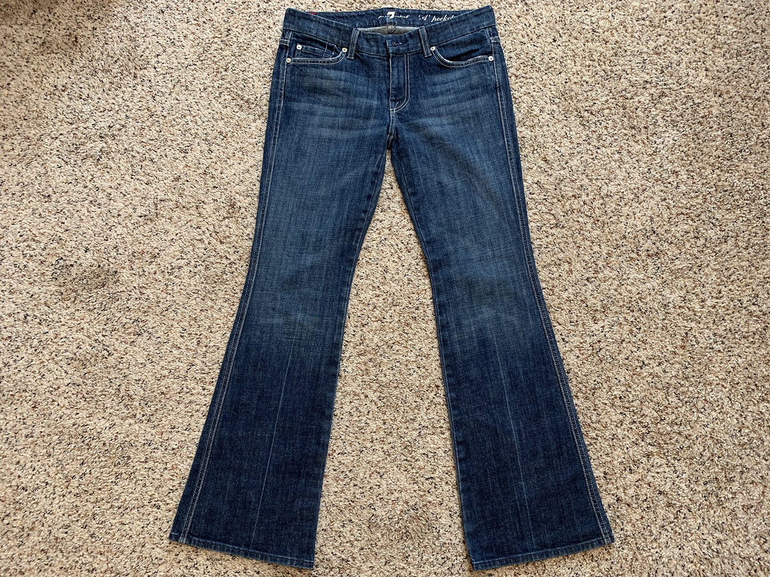 7 for All Mankind Womens A Pocket Bootcut Jeans Size 27