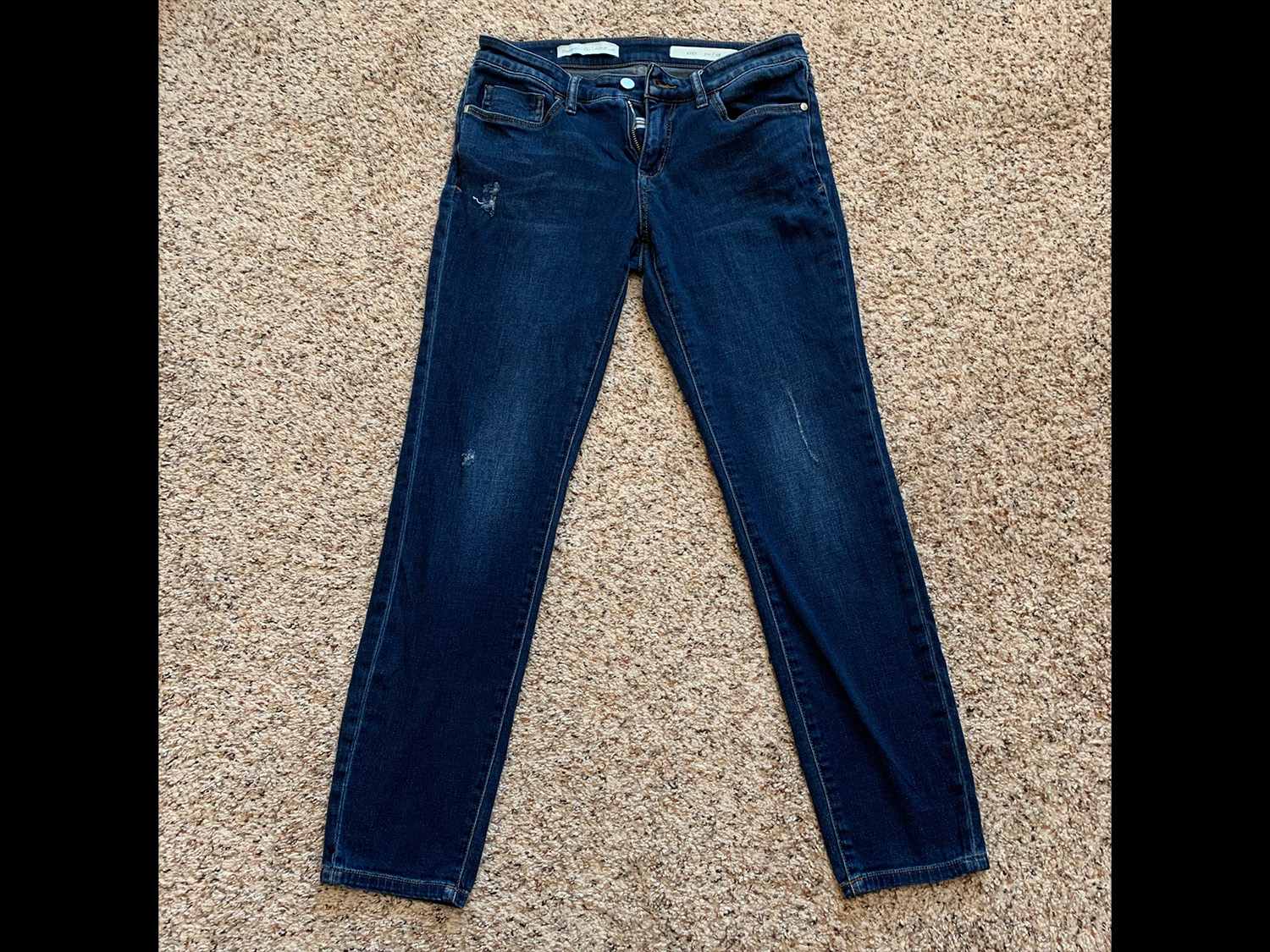 Pilcro and the Letterpress Womens Distressed Stet Jeans Size 28