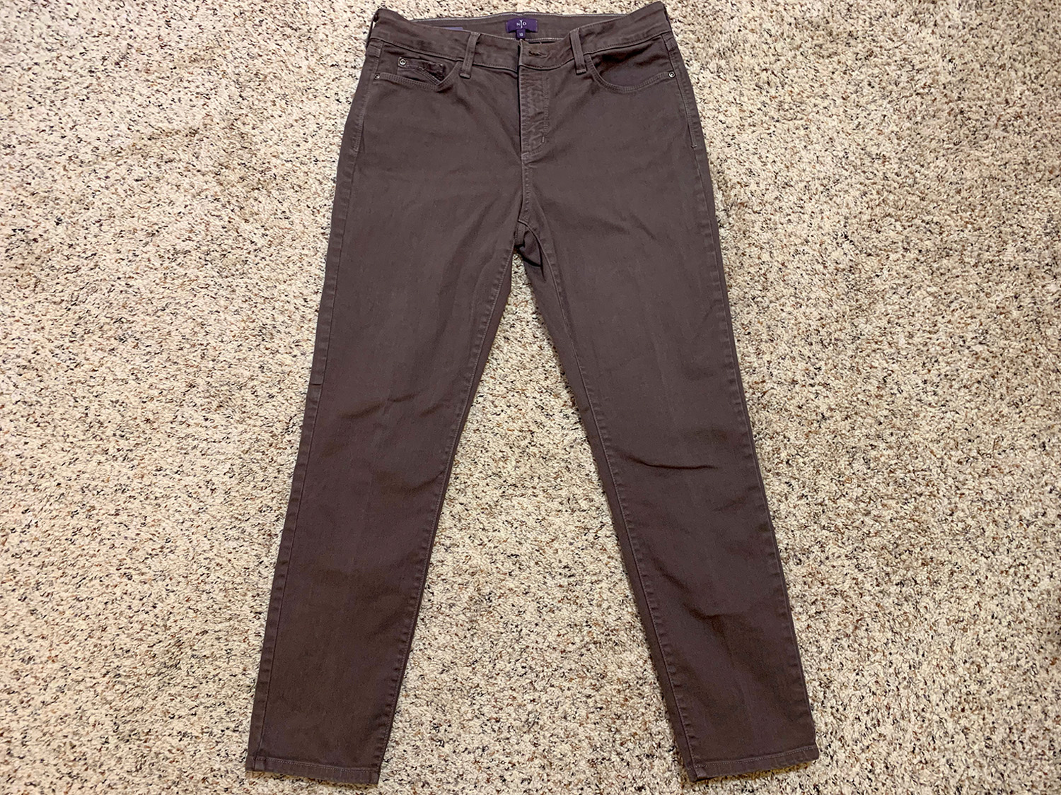 Not Your Daughters Jeans Clarissa Ankle Skinny Jeans Size 10