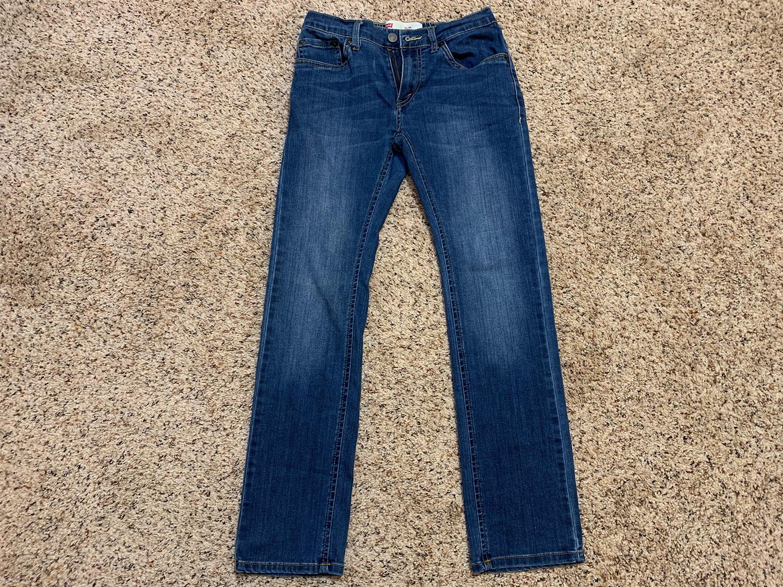 Levis Boys Slim Fit Jeans Size 12 Regular
