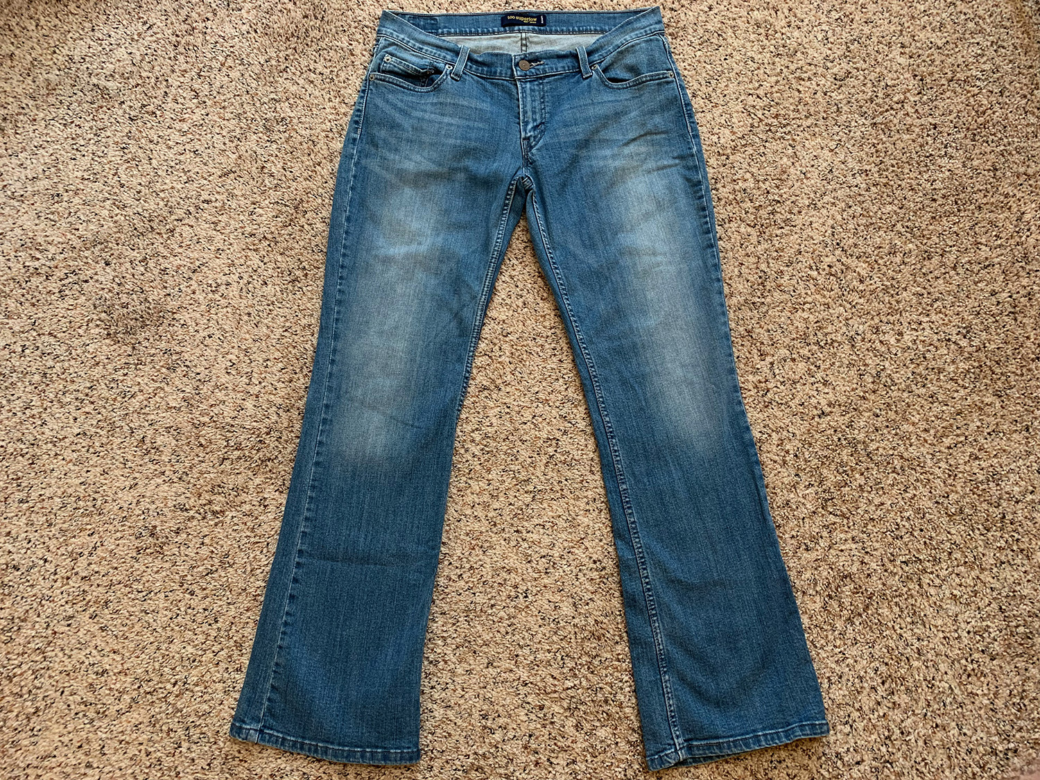 Levis Womens 524 Too Superlow Bootcut Jeans Size 11M