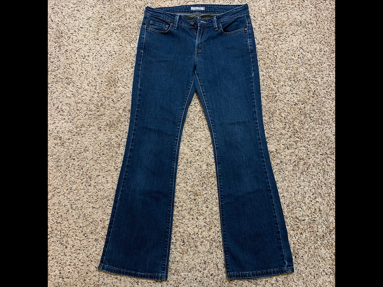 Levis Womens 545 Low Bootcut Jeans Size 8M