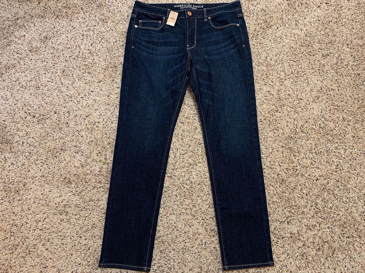 American Eagle Womens Mid-Rise Skinny Jeans NWT Size 12 Regular at The MenuGem Web Store